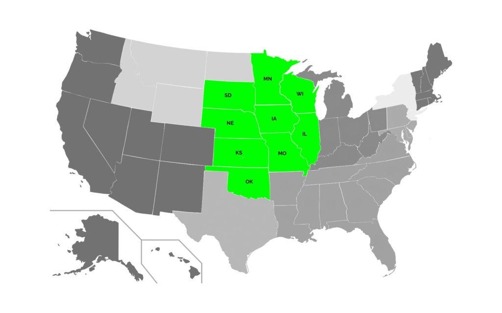 Midwest Region Map