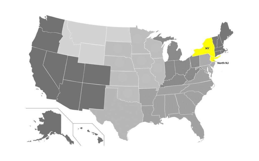 New York Region Map
