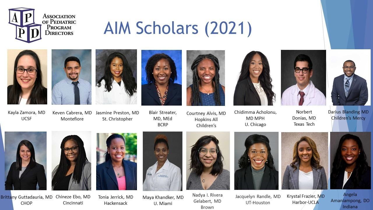 APPD AIM Scholars 2021